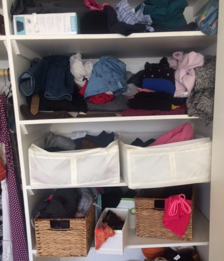 How to organize deep closet shelves