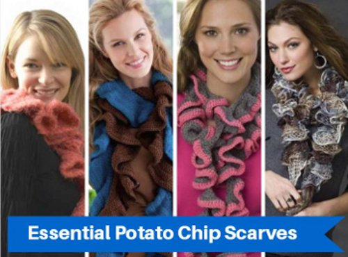 How to crochet a potato chip scarf