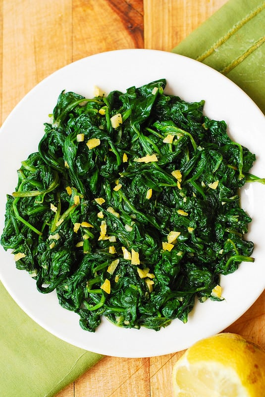 How to cook spinach