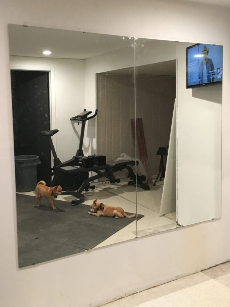 How to hang a gym mirror