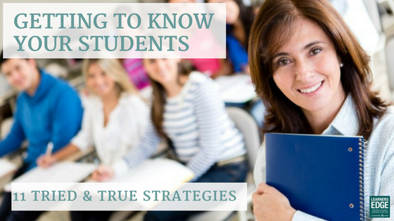 How to get to know your students