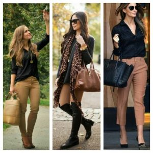 What color shirt goes with dark brown pants