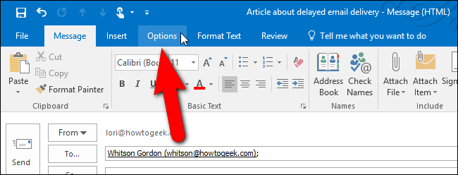 How to schedule an email in outlook