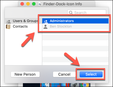 How to set file permissions on mac