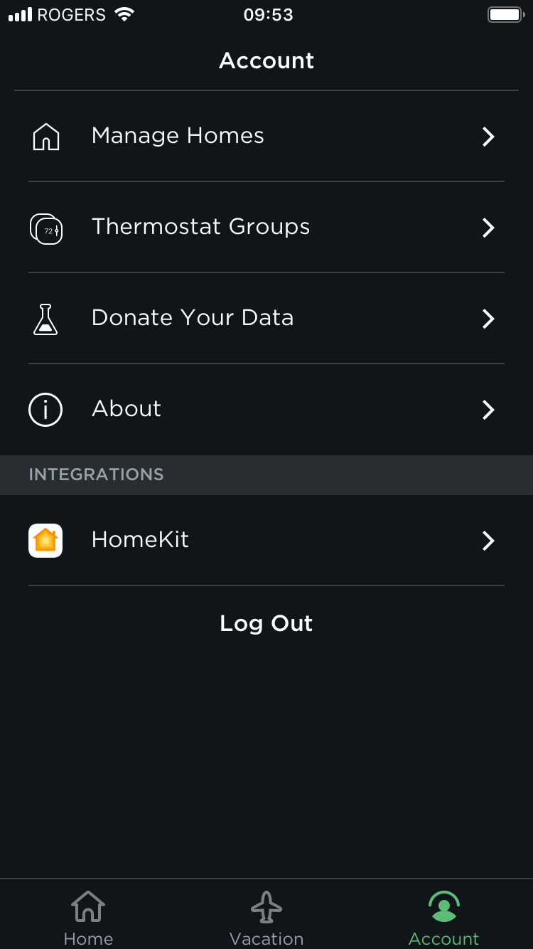 How to enable homekit on the ecobee thermostat