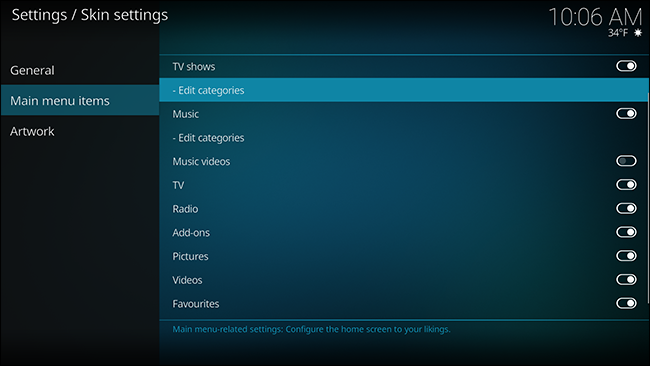 How to customize estuary kodi's new default skin