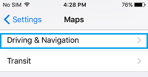 How to enable the compass in apple maps