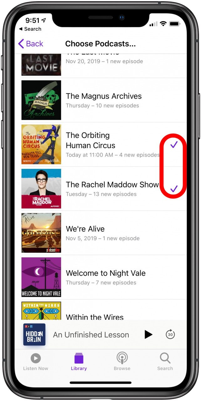 How to create a podcast playlist in ios
