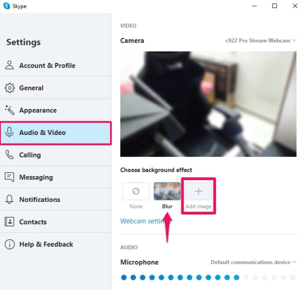 How to change your skype video call background