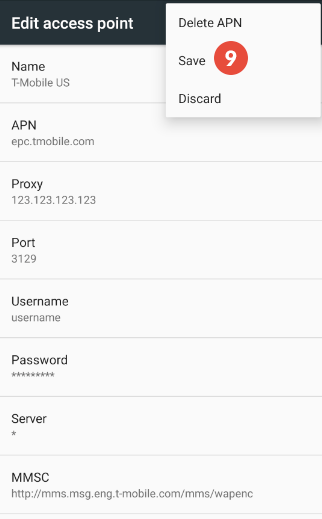How to configure a proxy server on android